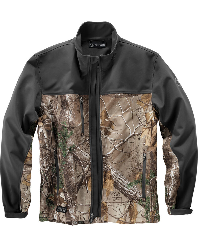 Dri-Duck Men's Motion Camo Softshell Work Jacket, Camouflage, hi-res
