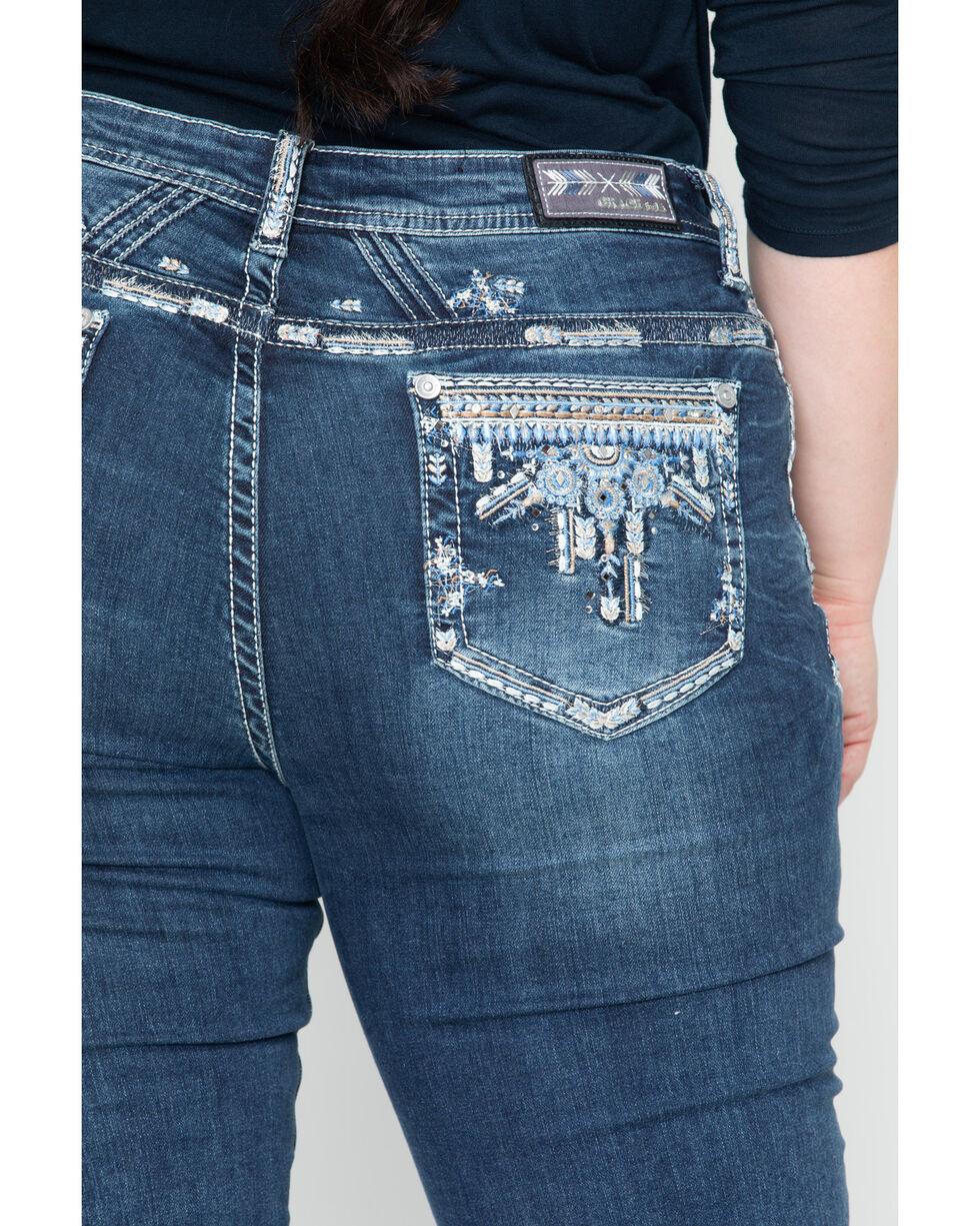 Grace In LA Women's Chandler Bling Boot Jean - Plus, Blue, hi-res