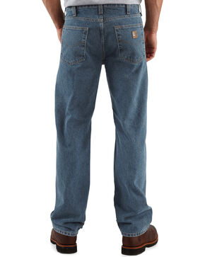 Carhartt Men's Traditional-Fit Straight-Leg Jeans, Dark Denim, hi-res