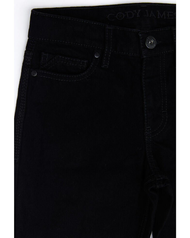 Cody James Boys' 8-20 Night Rider Rigid Relaxed Bootcut Jeans , Black, hi-res