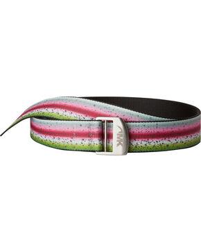 Mountain Khakis Men's Rainbow Trout Webbed Belt, Multi, hi-res