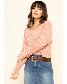 Rag Poets Women's Rose Dawn Spiagga Sweater, Pink, hi-res