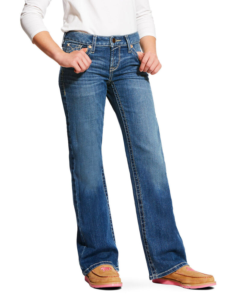 Ariat Girls' Eleanor REAL Whipstitch Boot Jeans , Indigo, hi-res