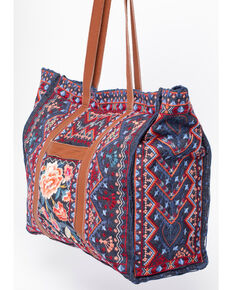 Johnny Was Women's Denim Marion Market Tote , Blue, hi-res