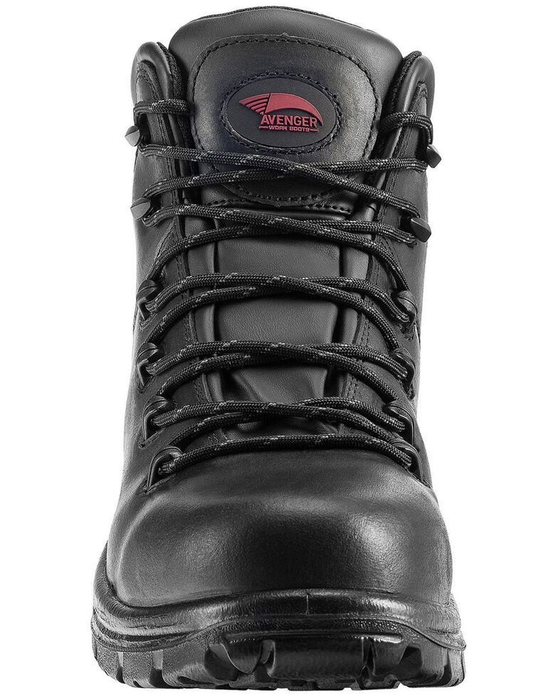 Avenger Men's Plain Waterproof Work Boots - Soft Toe, Black, hi-res