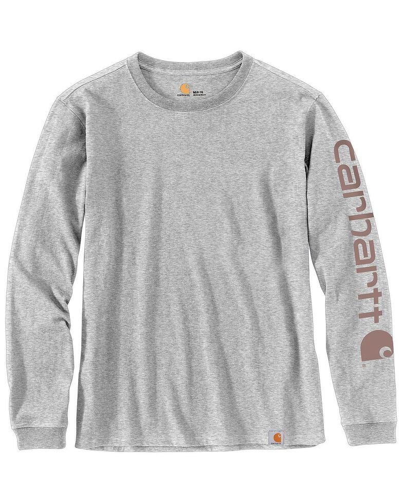 Carhartt Women's Logo Long Sleeve Work T-Shirt - Plus, , hi-res