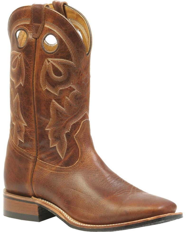 Boulet Men's Rider Sole Cowboy Boots - Square Toe, Brown, hi-res