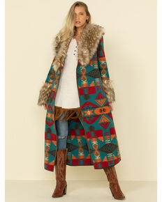 Tasha Polizzi Women's Park City Blanket Coat , Multi, hi-res