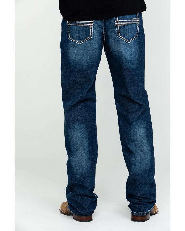 Cinch Men's White Label Medium Stone Relaxed Straight Jeans , Indigo, hi-res