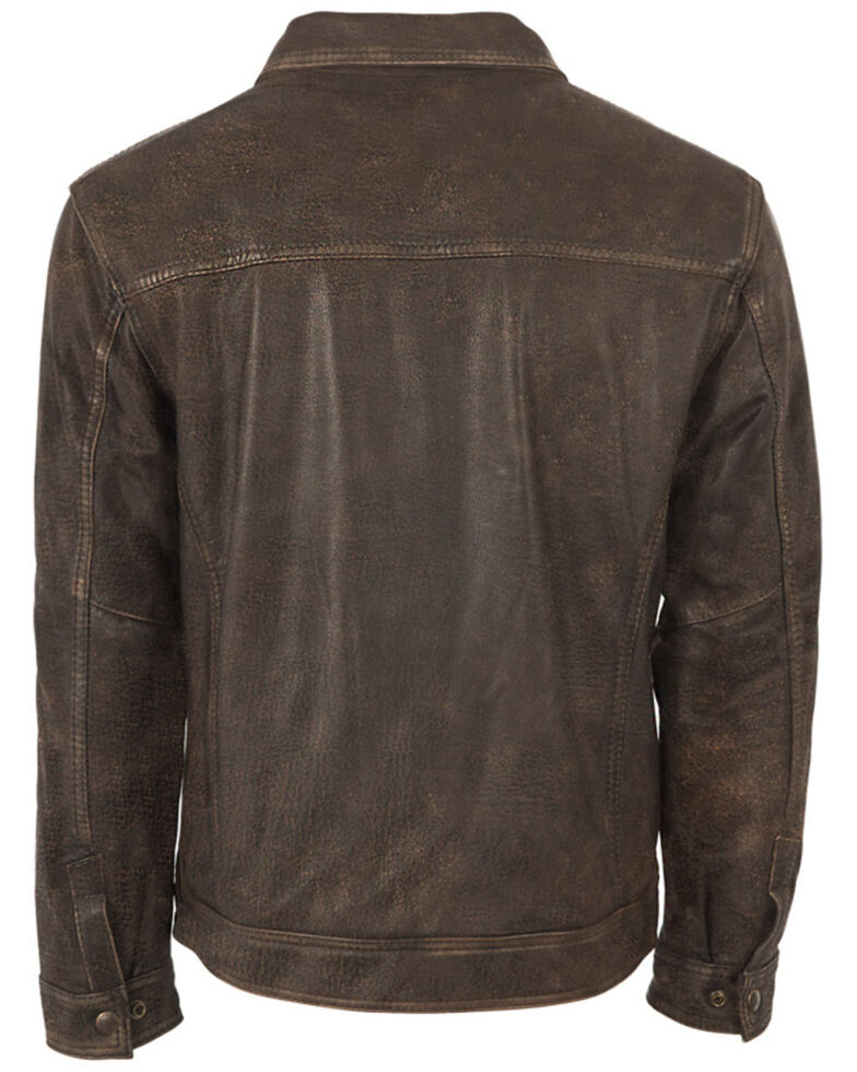 STS Ranchwear Women's Turnback Leather Jacket, Dark Brown, hi-res