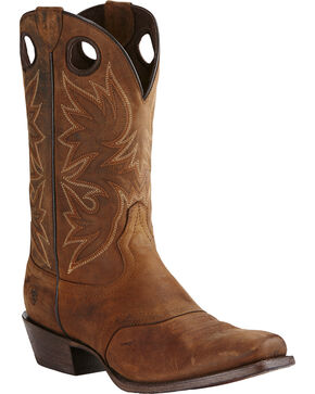 Ariat Men's Circuit Striker Western Boots, Dark Brown, hi-res