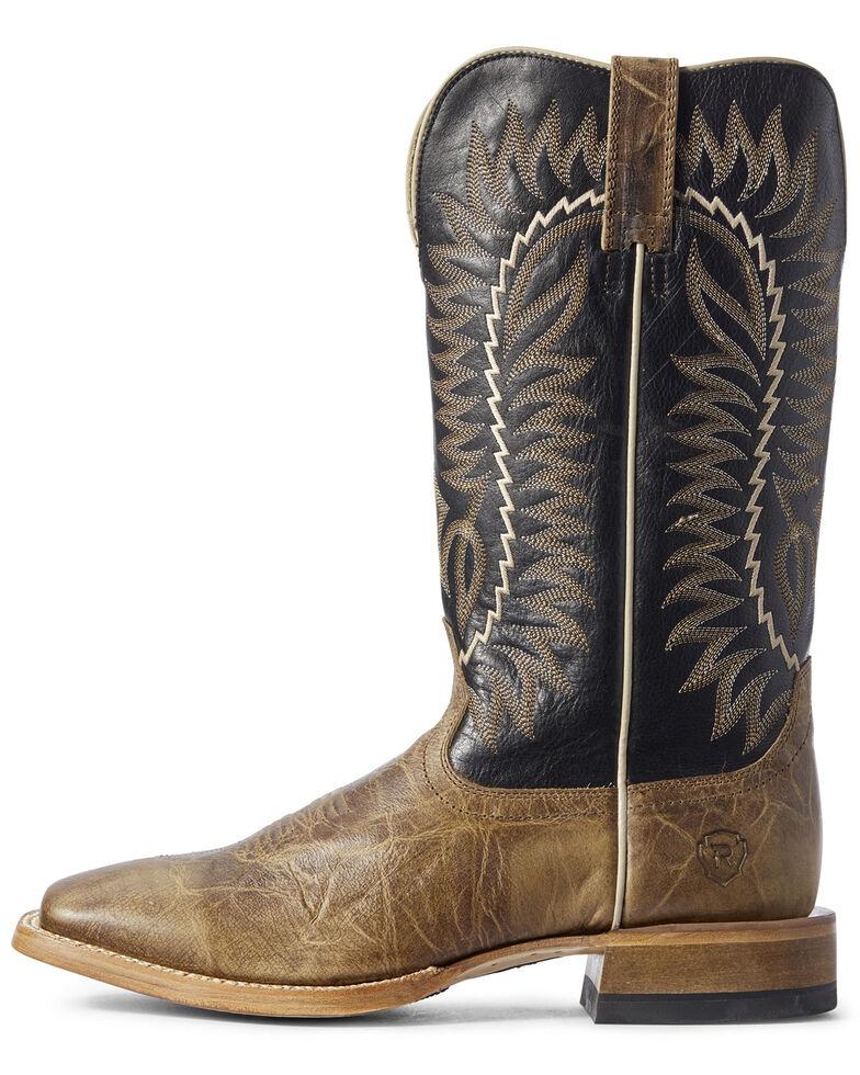 Ariat Men's Elite Turnback Western Boots - Wide Square Toe, Brown, hi-res