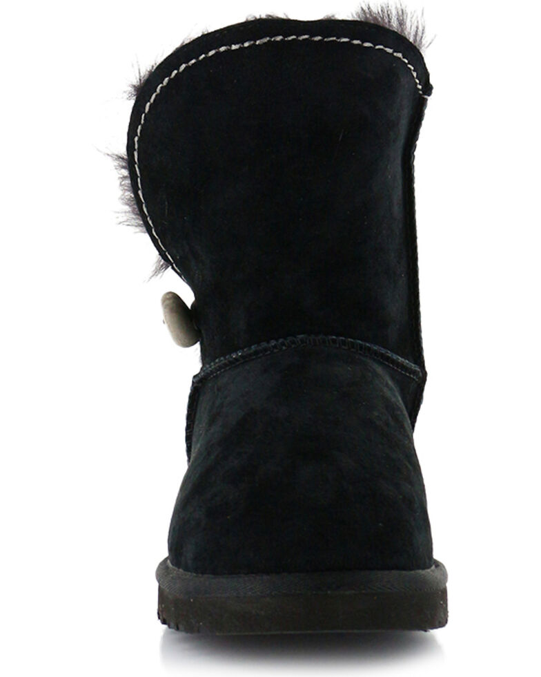 UGG Women's Meadow Short Boots - Round Toe, Black, hi-res