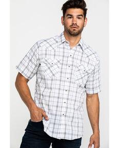 Ely Cattleman Men's Assorted Med Plaid Short Sleeve Western Shirt , Multi, hi-res