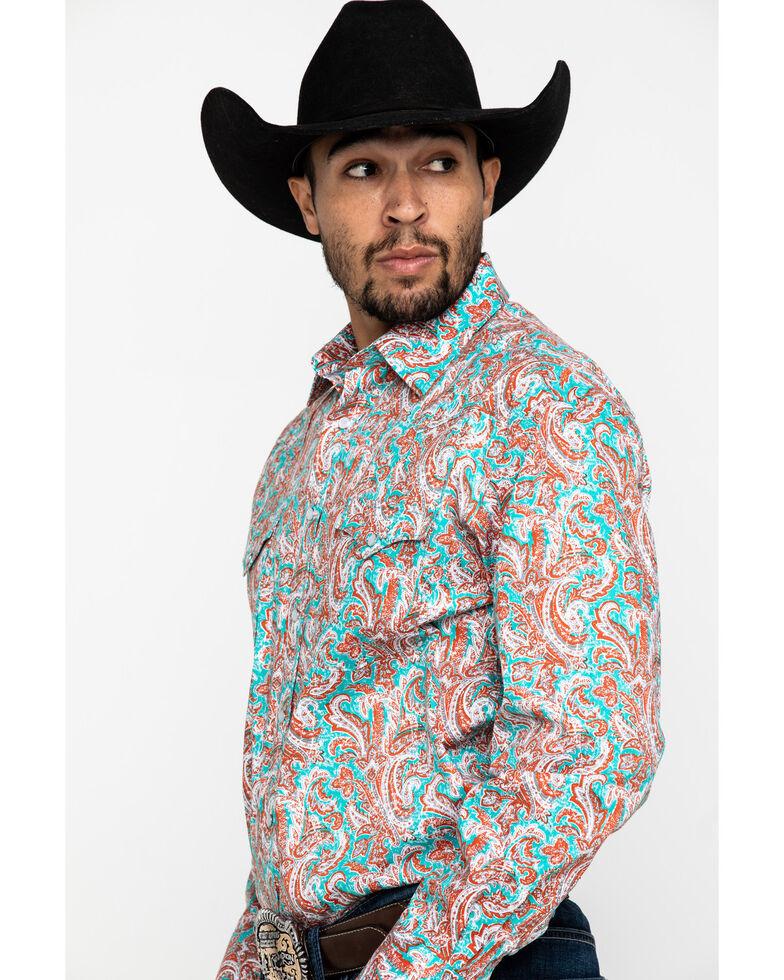 Rough Stock By Panhandle Bellaria Paisley Print Long Sleeve Western Shirt , Red, hi-res