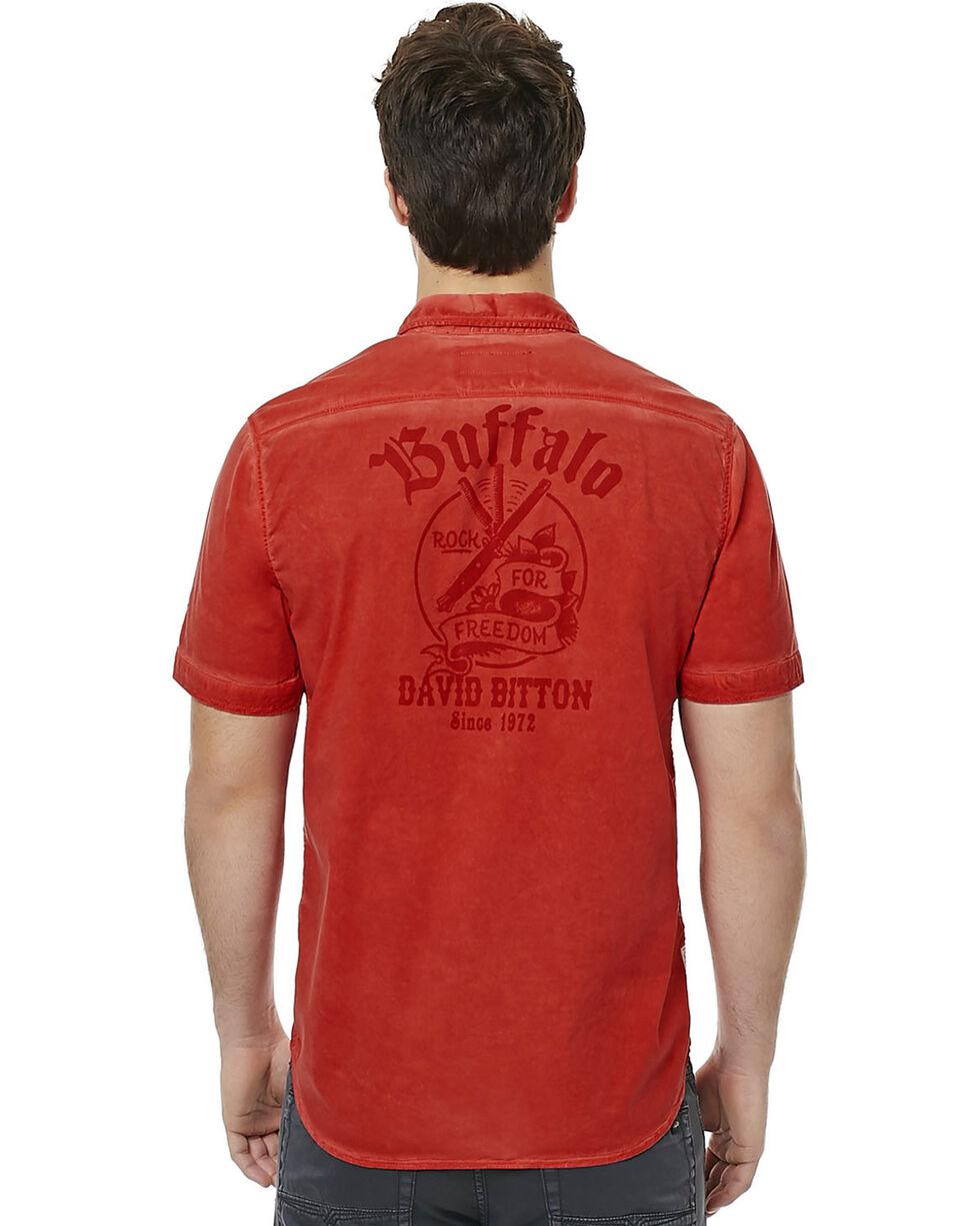 Buffalo Men's Red Sakud Short Sleeve Shirt , Red, hi-res
