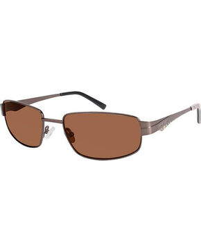 Realtree Men's Brown Metal Polarized Sunglasses, Brown, hi-res