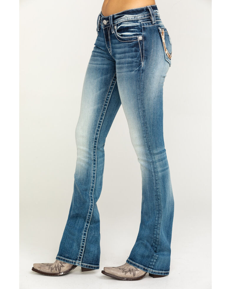 Miss Me Women's Horse Medium Wash Bootcut Jeans, Blue, hi-res