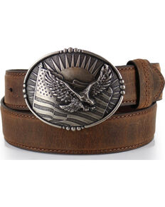 30f349dcb166e Cody James® Men's Patriotic Eagle Leather Belt