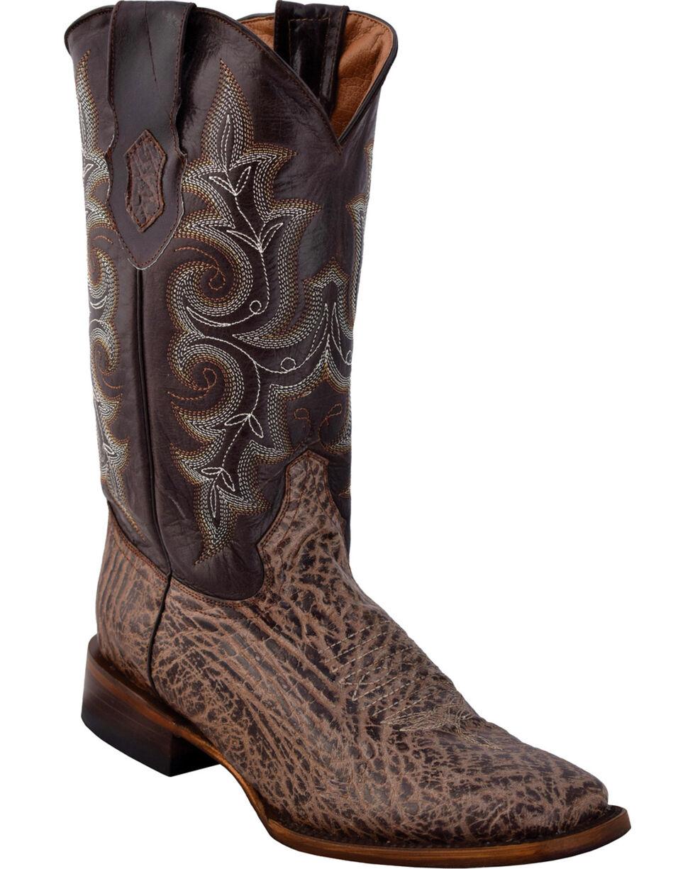 Ferrini Men's Acero Brown Cowboy Boots - Wide Square Toe, Brown, hi-res