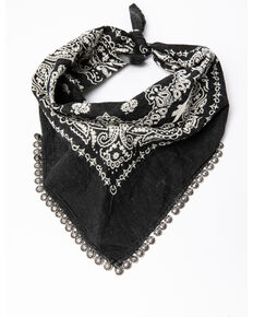Idyllwind Women's Calamity Jane Bandana Necklace, Black, hi-res