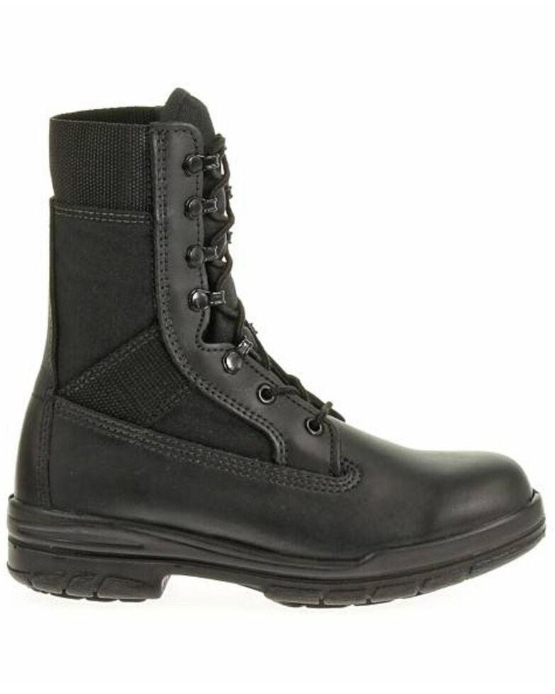 "Bates Women's 8"" Tropical Seals Durashocks Work Boots - Soft Toe, Black, hi-res"