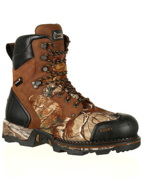 Rocky Men's Maxx Insulated Waterproof Outdoor Boots - Round Toe, Camouflage, hi-res