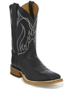 Justin Men's Caddo Chester Western Boots - Wide Square Toe, Black, hi-res