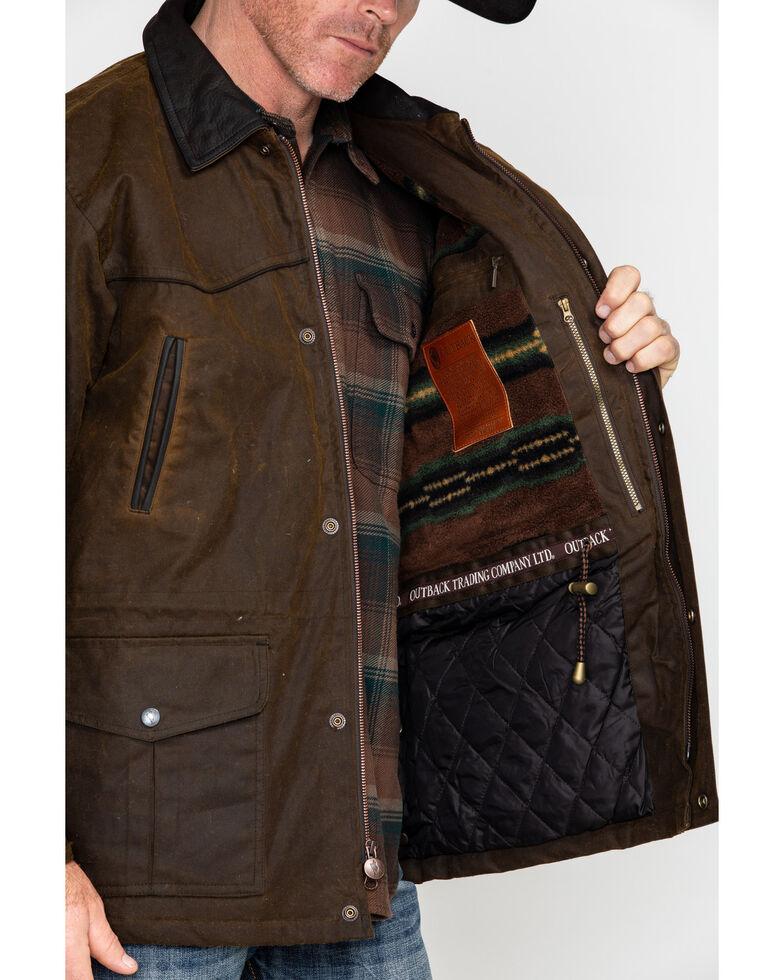Outback Unisex Waterproof Oilskin Pathfinder Jacket, Bronze, hi-res