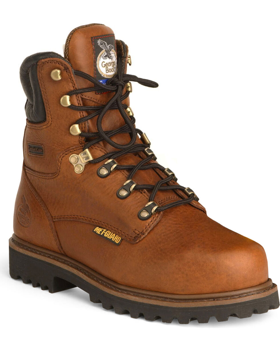 Georgia Men's Steel Toe Metatarsal Guard Work Boots, Briar, hi-res