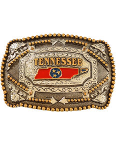 Cody James® Tennessee Flag Belt Buckle, Multi, hi-res