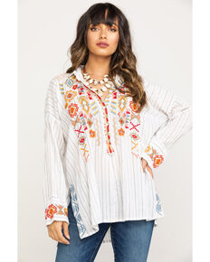 Johnny Was Women's Clapton Stripe Blouse, Multi, hi-res