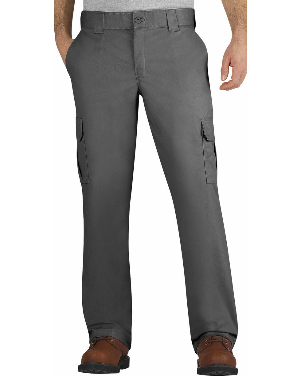 Dickies Men's FLEX Regular Fit Straight Leg Cargo Pants - Big & Tall, Dark Grey, hi-res