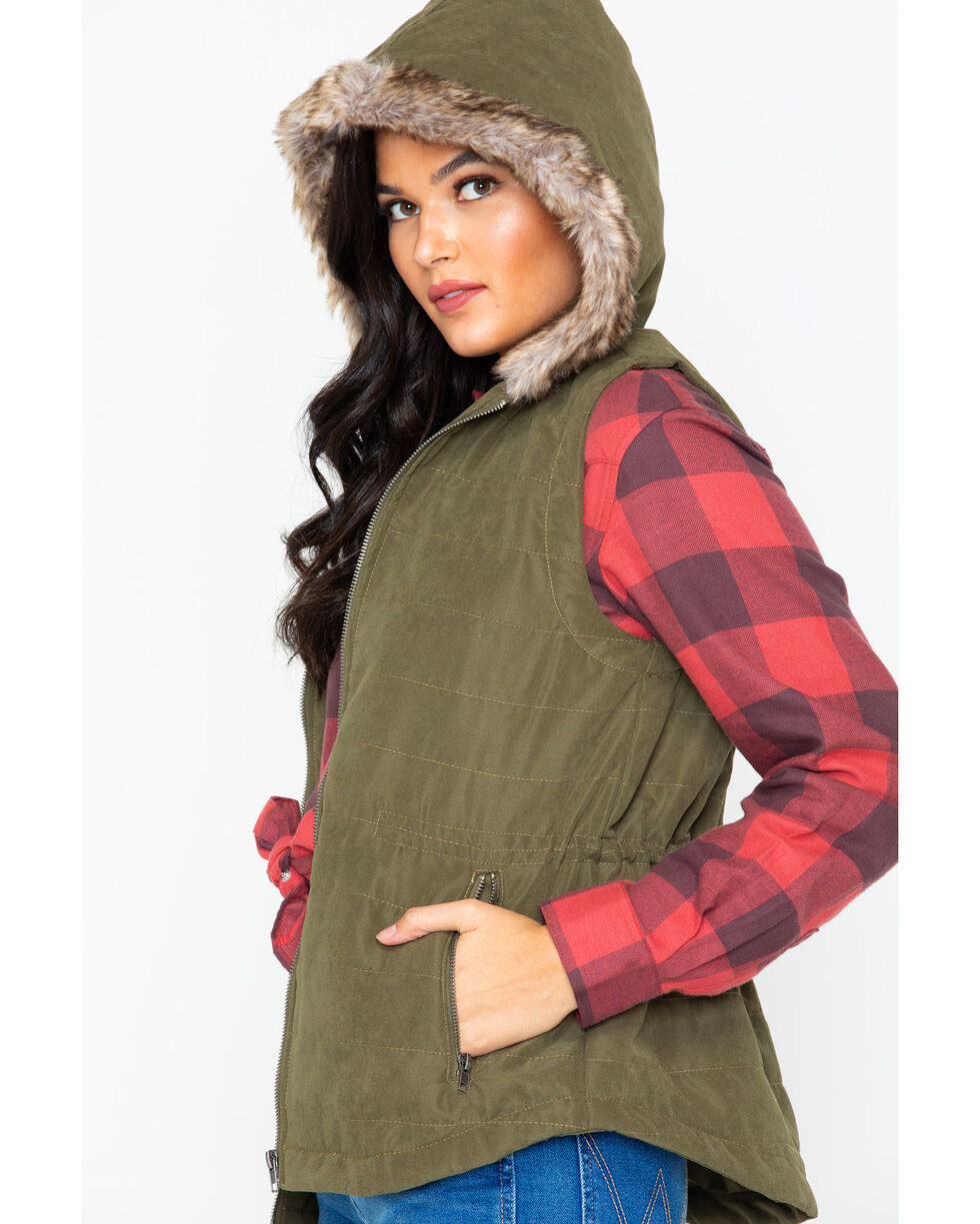 Jack By BB Dakota Hey-Ya Hooded Vest , Olive, hi-res