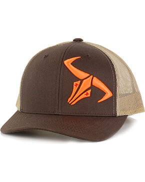 Go Left Men's Logo Trucker Hat, Brown, hi-res