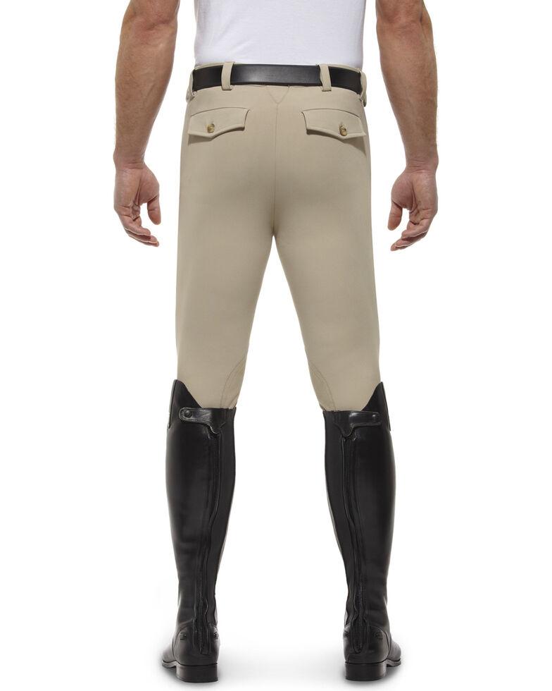 Ariat Men's Olympia Front Zip Knee Pad Riding Breeches, Tan, hi-res