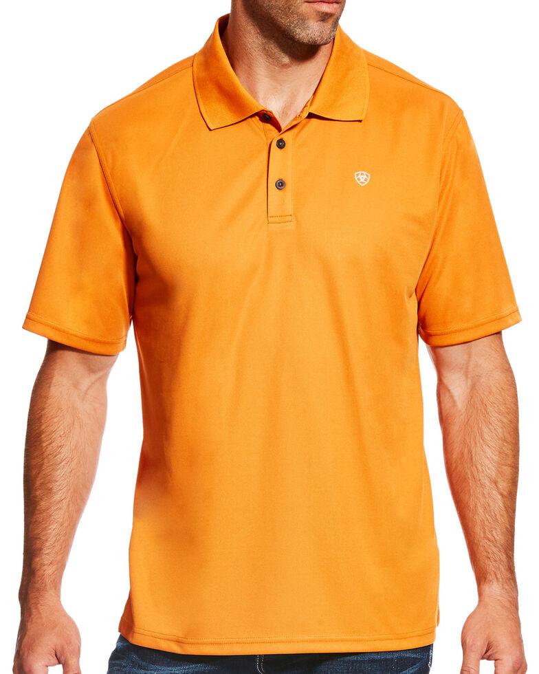 Ariat Men's Tek Polo Shirt, Orange, hi-res