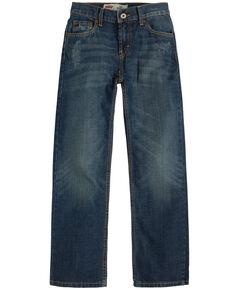Levi's Boys' Atlas 514 Dark Straight Jeans , Blue, hi-res