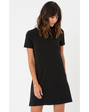 Z Supply Chloe Ponte Dress, Black, hi-res