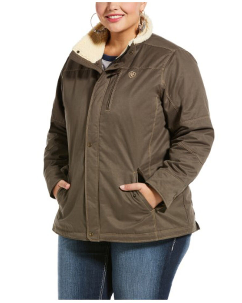 Ariat Women's Banyan Bark Grizzly Jacket - Plus, Olive, hi-res