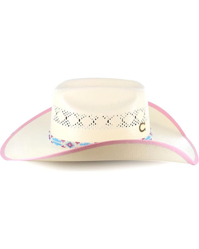 ddef290da641a5 Zoomed Image Charlie 1 Horse Girls' Gracie Straw Hat, Natural, hi-res