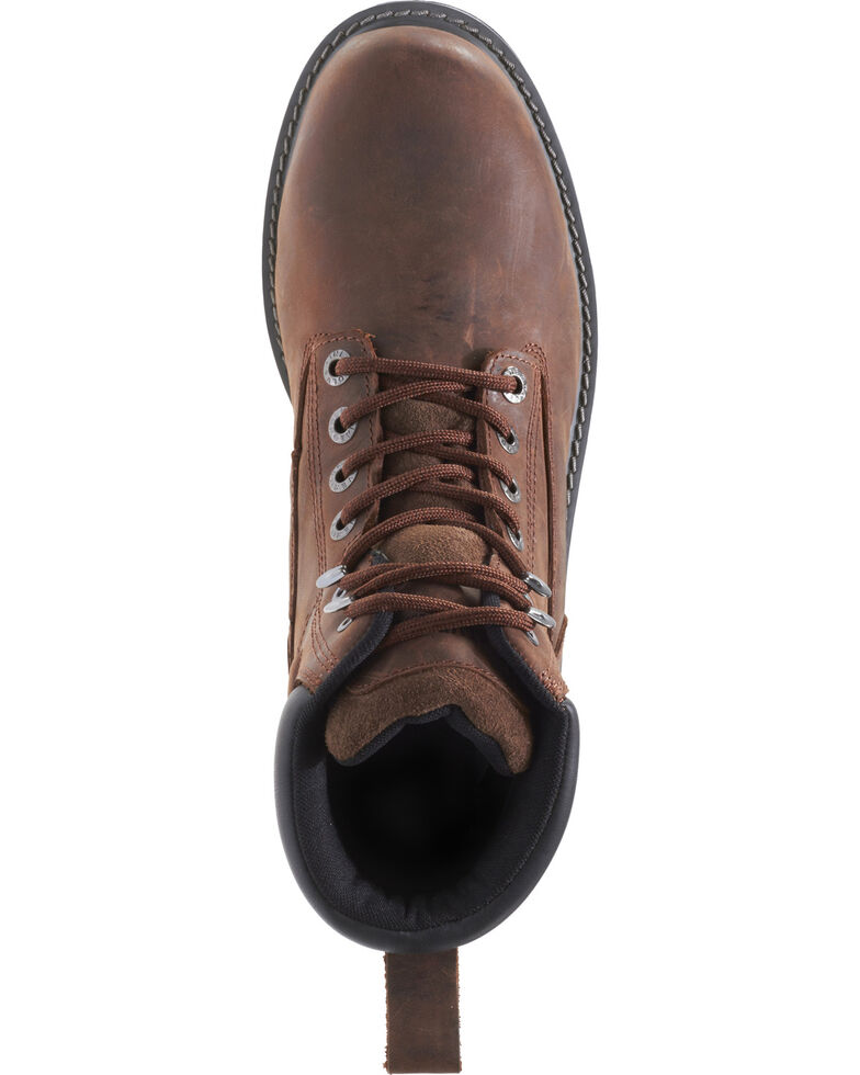 "Wolverine Men's Floorhand Waterproof 6"" Work Boots - Steel Toe, Dark Brown, hi-res"