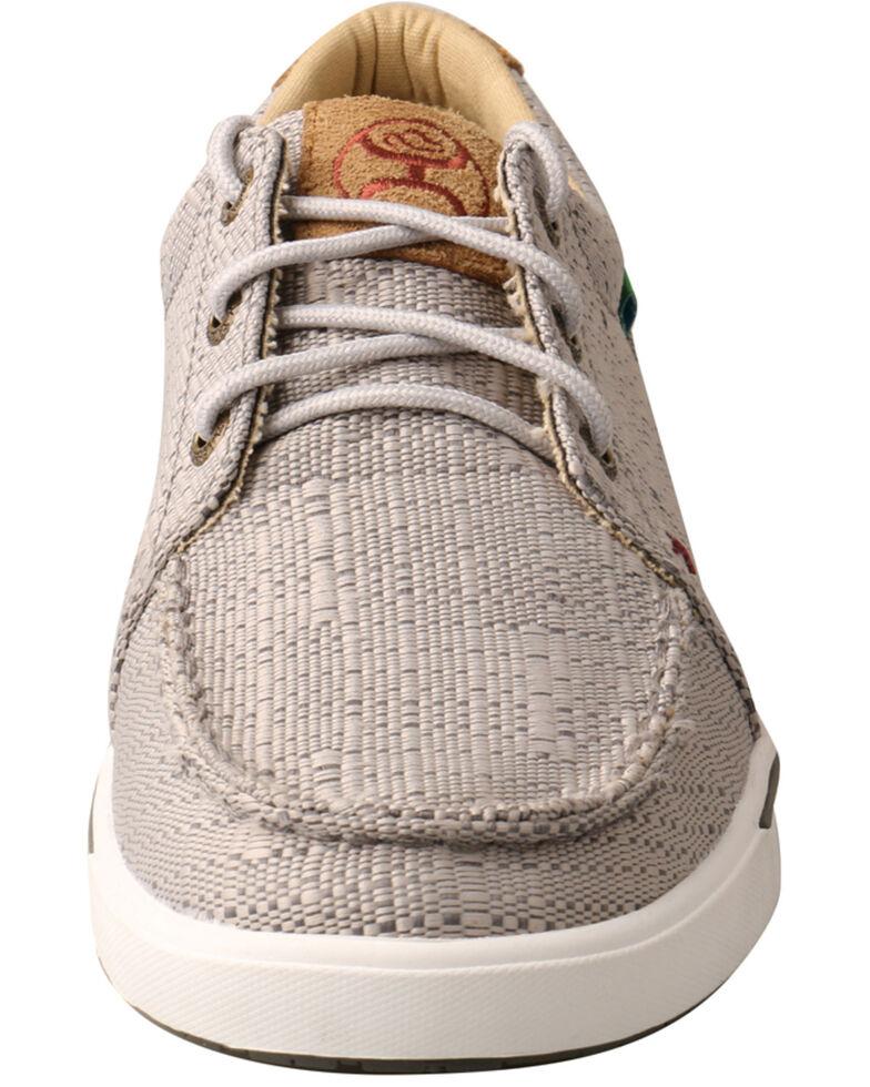 Twisted X Women's Light Grey Hooey Sneakers - Moc Toe, Light Grey, hi-res