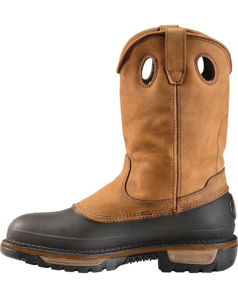 Georgia Men's Muddog Steel Toe Wellington Boots, Brown, hi-res