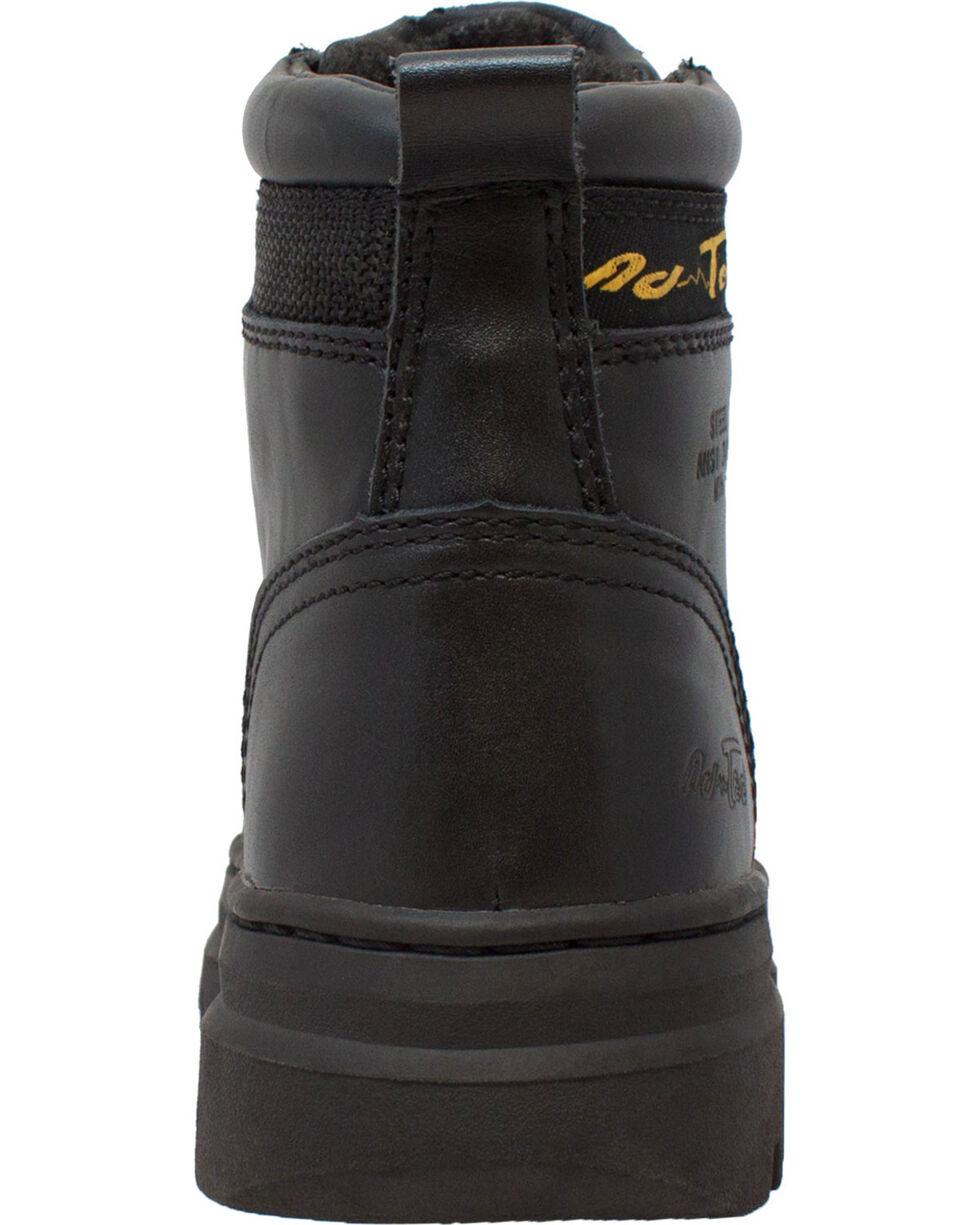 "Ad Tec Women's 6"" Leather Work Boots - Steel Toe, Black, hi-res"