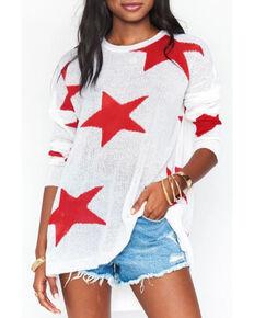 Show Me Your Mumu Women's Bronson Sweater, White, hi-res