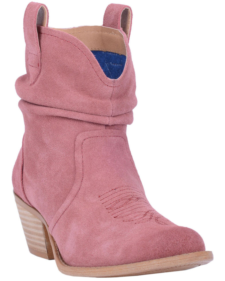 Dingo Women's Blush Jackpot Western Booties - Round Toe, Blush, hi-res