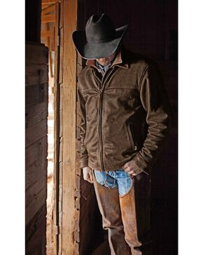 STS Ranchwear Men's Leather Rifleman Jacket, Brown, hi-res