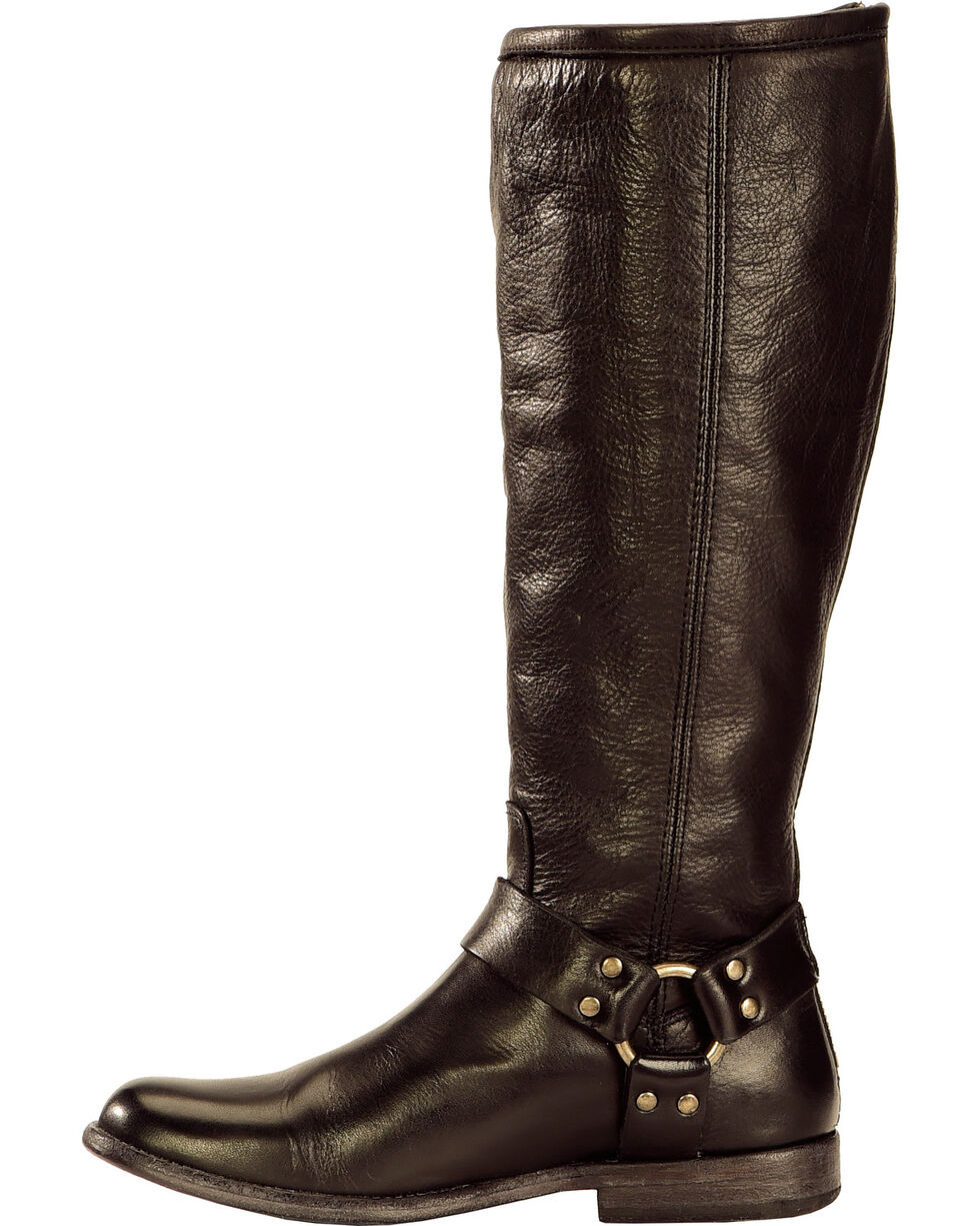 Frye Women's Phillip Harness Riding Boots - Extended Calf, Black, hi-res
