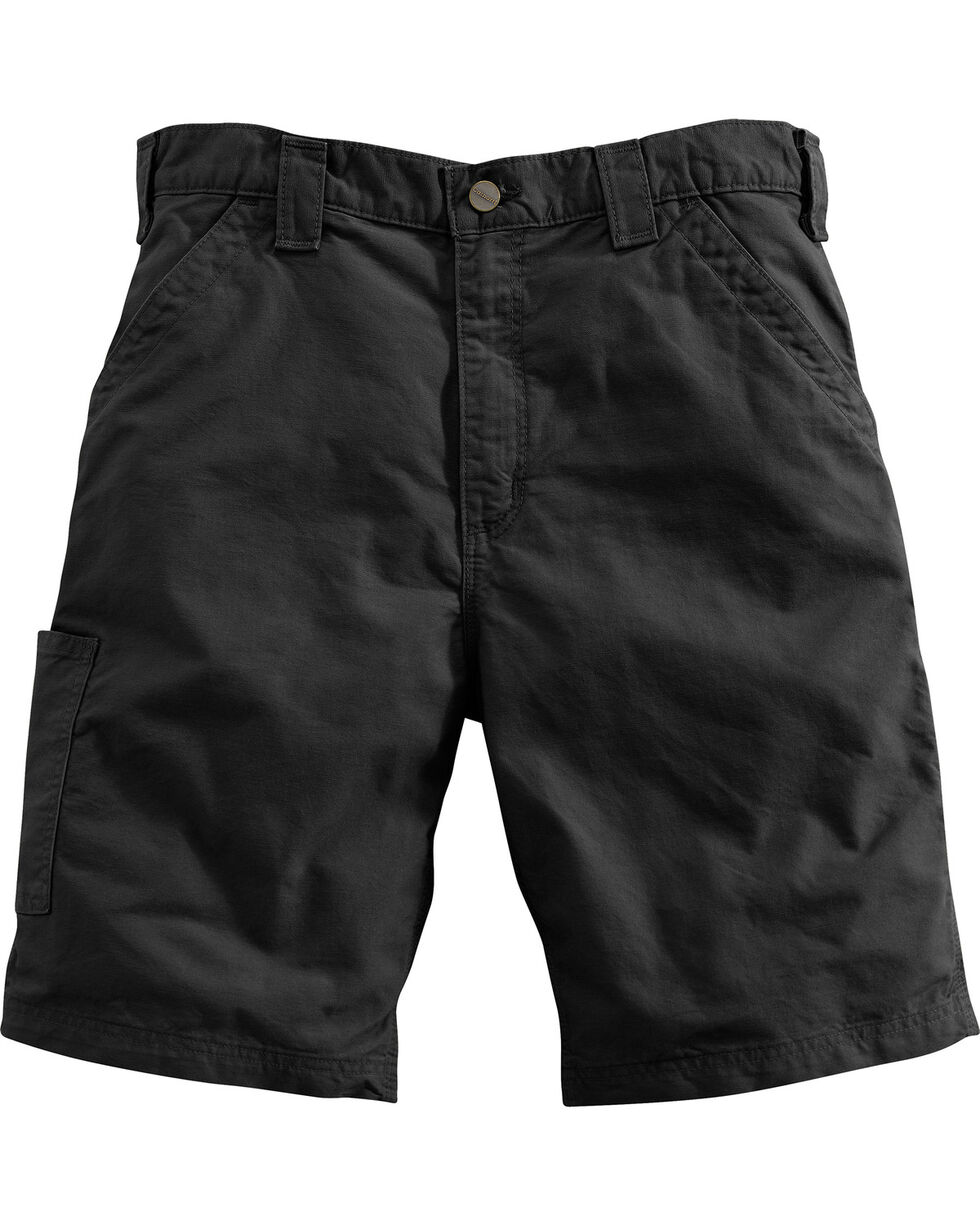 Carhartt Men's Black Canvas Work Shorts , Black, hi-res